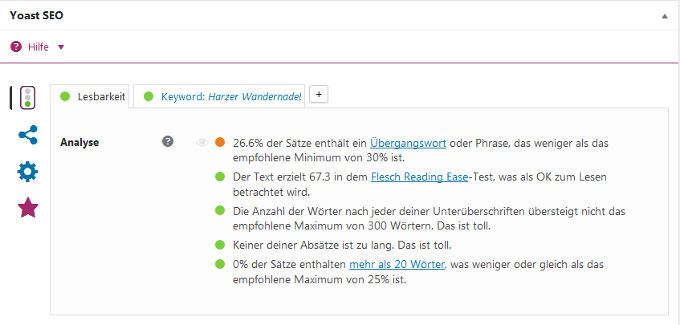 Flesch Reading Ease Score optimieren