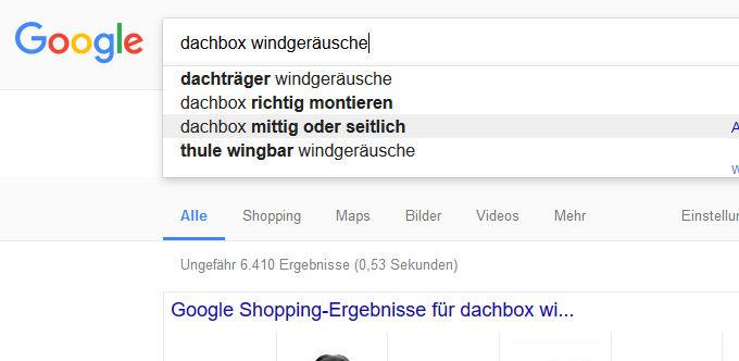 Contentrecherche mit Google